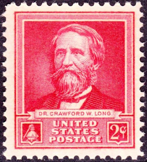Dr Crawford W Long francobollo PJmagazine