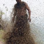 La Nuova trovata pubblicitaria: uomo coperto di api