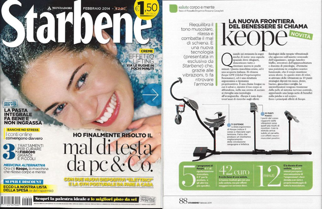 Keope Gpr - Global Proprioceptive Resonance - PJ Magazine - Rivista Starbene