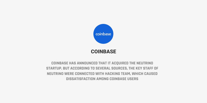 Coinbase - PJ Magazine - Neutrino - Hacking Team